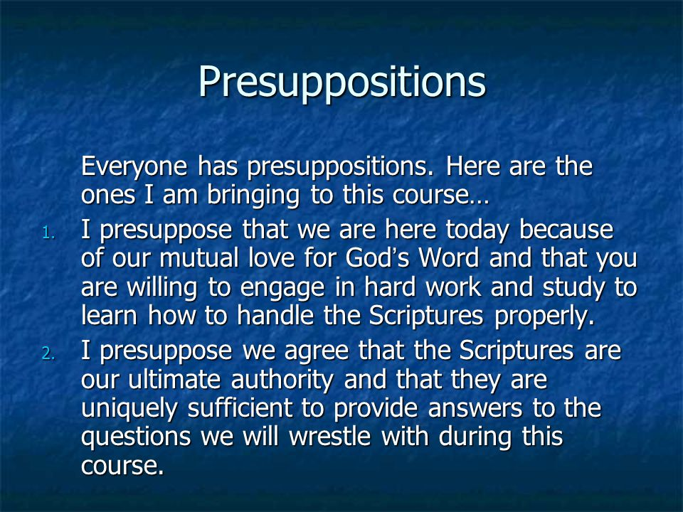 Biblical Interpretation Barriers to the interpretive process: We must seek to let the Bible speak for itself by approaching it impartially and objectively.