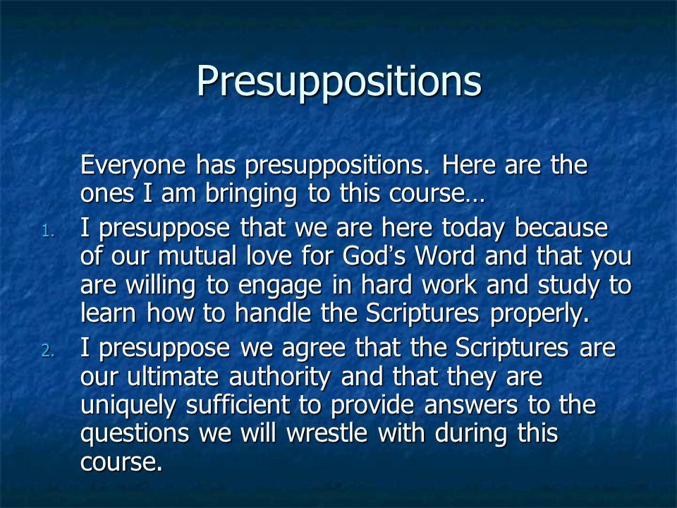 Biblical Interpretation Barriers to the interpretive process: 6.