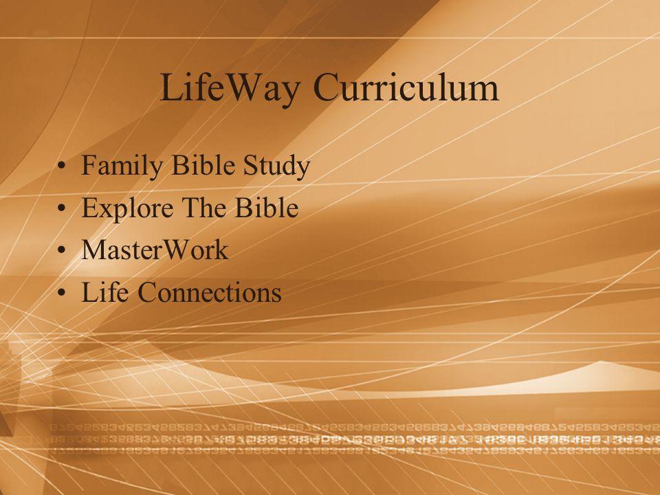 LifeWay Curriculum Family Bible Study Explore The Bible MasterWork Life Connections