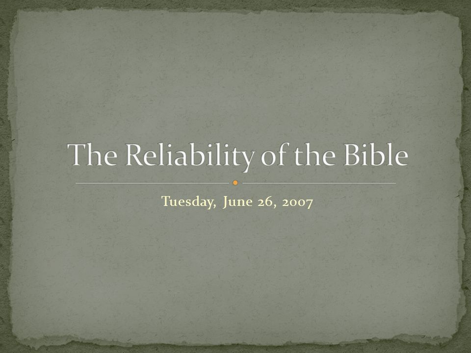 Tuesday, June 26, 2007