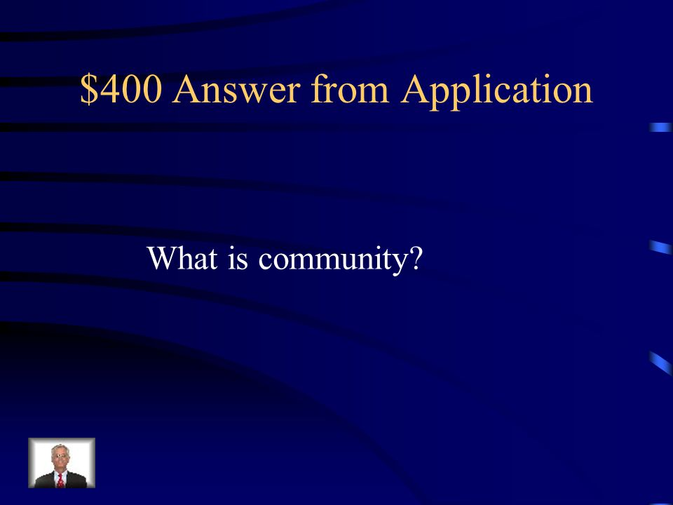 $400 Question from Application The Father, the Son and the Holy Spirit (three-in-one) model for the church what it is like to be like-minded and stand together as a ______________.