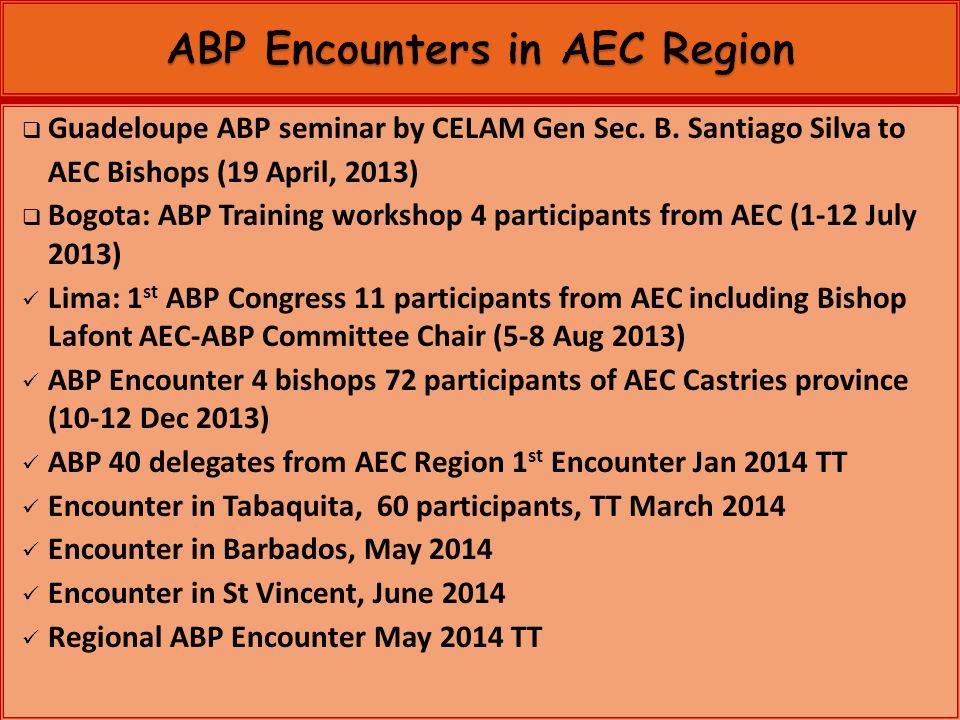 Guadeloupe ABP seminar by CELAM Gen Sec. B.