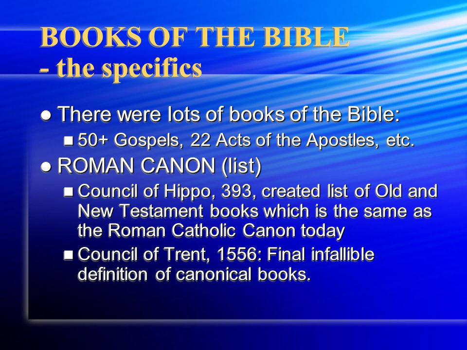 BOOKS OF THE BIBLE - what they contain OLD TESTAMENT: LAW: Torah(5) LAW: Torah(5) HISTORY: (12) HISTORY: (12) WISDOM (5) WISDOM (5) MAJOR PROPHETS (5) MAJOR PROPHETS (5) MINOR PROPHETS (12) MINOR PROPHETS (12) APOCRYPHAL (7) APOCRYPHAL (7) OLD TESTAMENT: LAW: Torah(5) LAW: Torah(5) HISTORY: (12) HISTORY: (12) WISDOM (5) WISDOM (5) MAJOR PROPHETS (5) MAJOR PROPHETS (5) MINOR PROPHETS (12) MINOR PROPHETS (12) APOCRYPHAL (7) APOCRYPHAL (7)