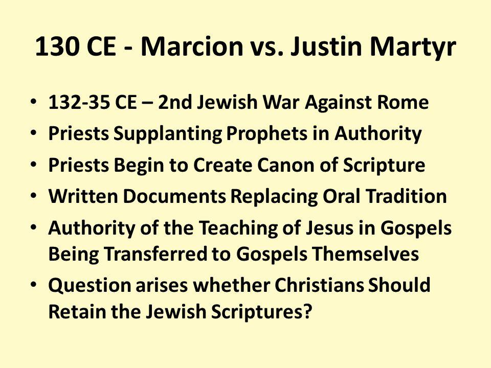 130 CE - Marcion vs.