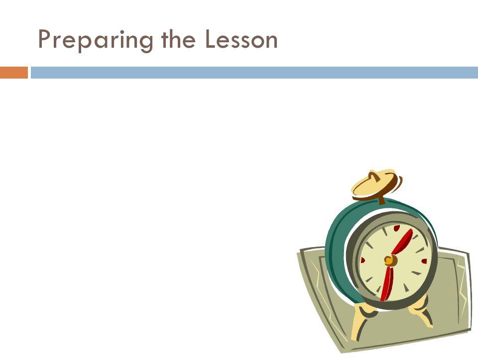 Preparing the Lesson