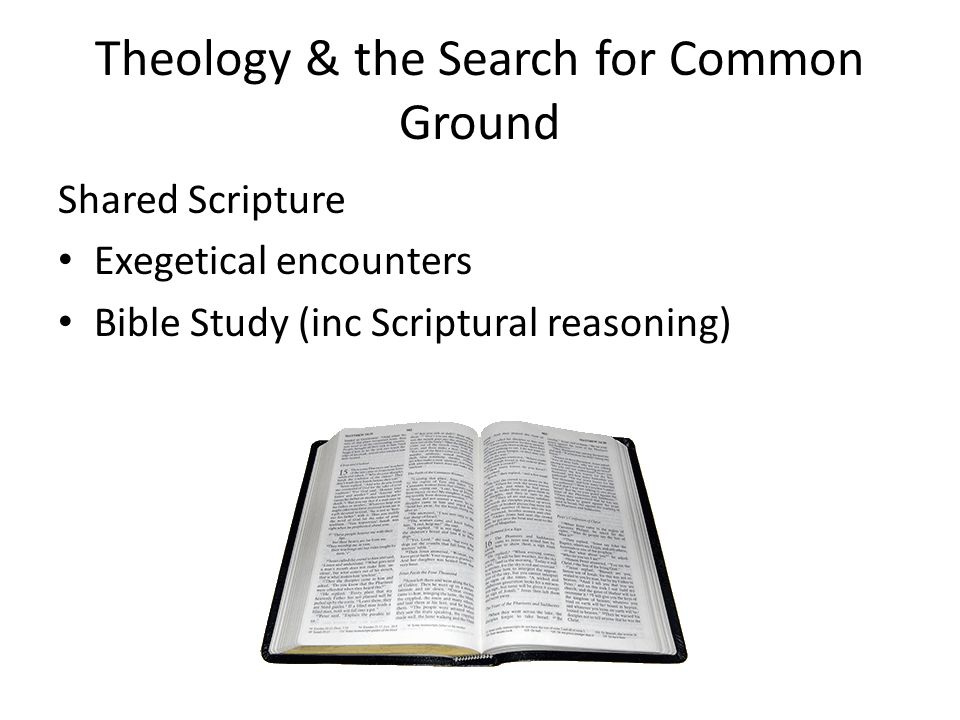 Theology & the Search for Common Ground Shared Scripture Exegetical encounters Bible Study (inc Scriptural reasoning)