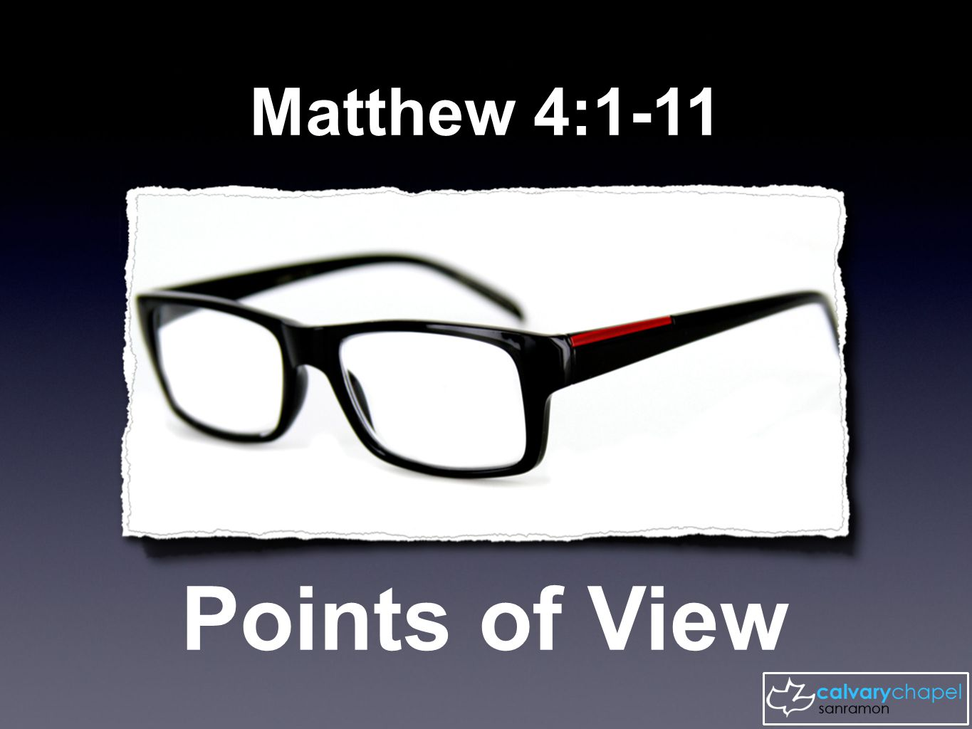 Matthew 4:1-11 Points of View