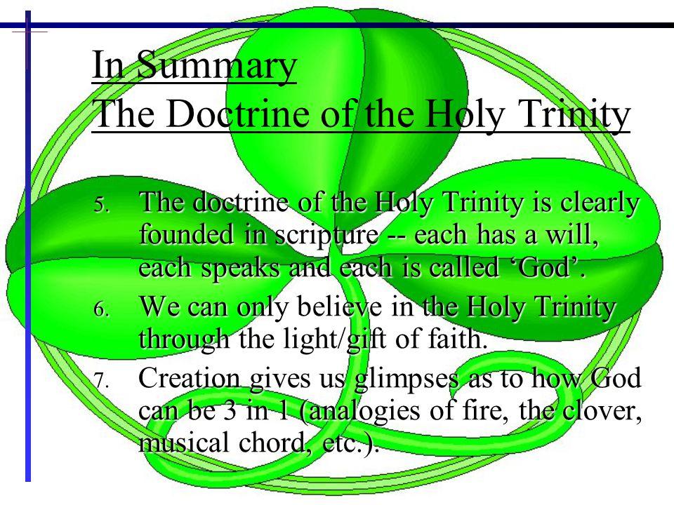 30 In Summary The Doctrine of the Holy Trinity 5.