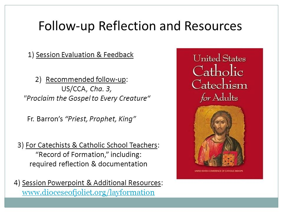 Follow-up Reflection and Resources 2)Recommended follow-up: US/CCA, Cha.
