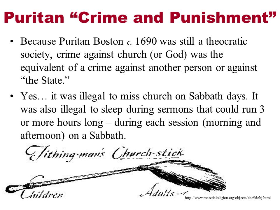 Puritan Crime and Punishment Because Puritan Boston c.