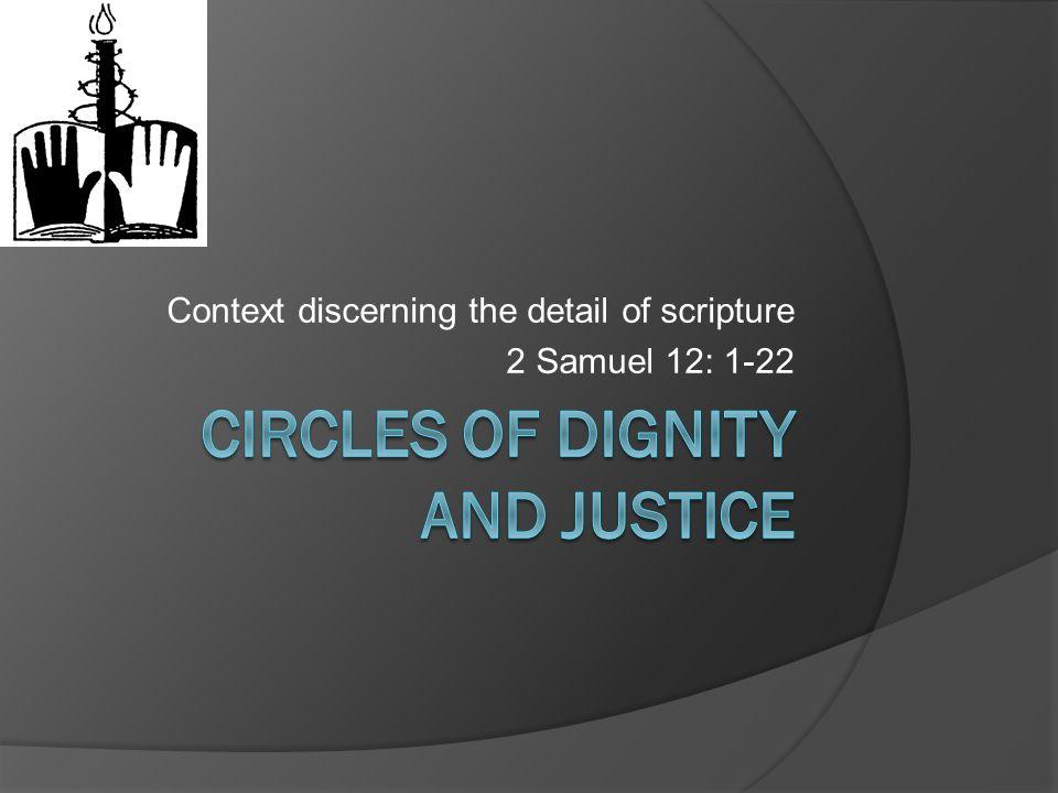 Context discerning the detail of scripture 2 Samuel 12: 1-22