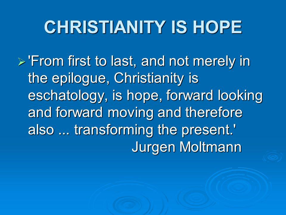 HOPE MOVES YOU FORWARD