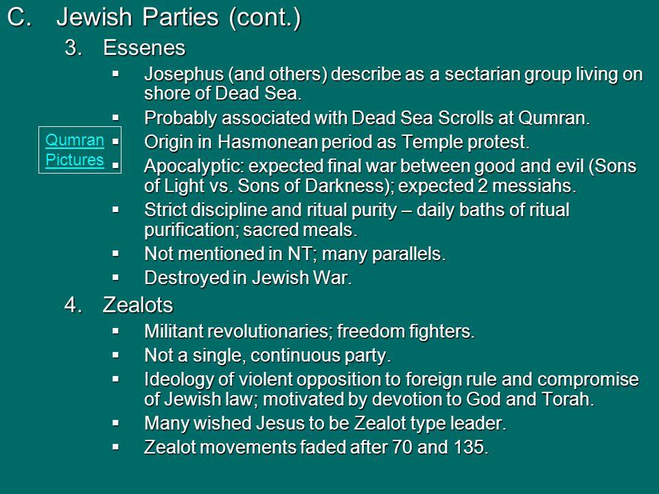 D.Hellenistic Judaism 1.Diaspora - scattering/dispersion of Jews outside Palestine.