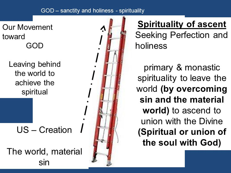Consider the different focus between these 2 major Spiritual Traditions.
