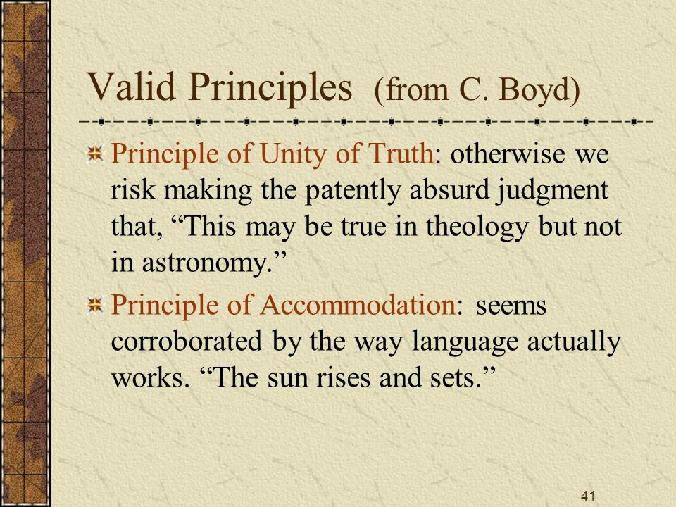 41 Valid Principles (from C.