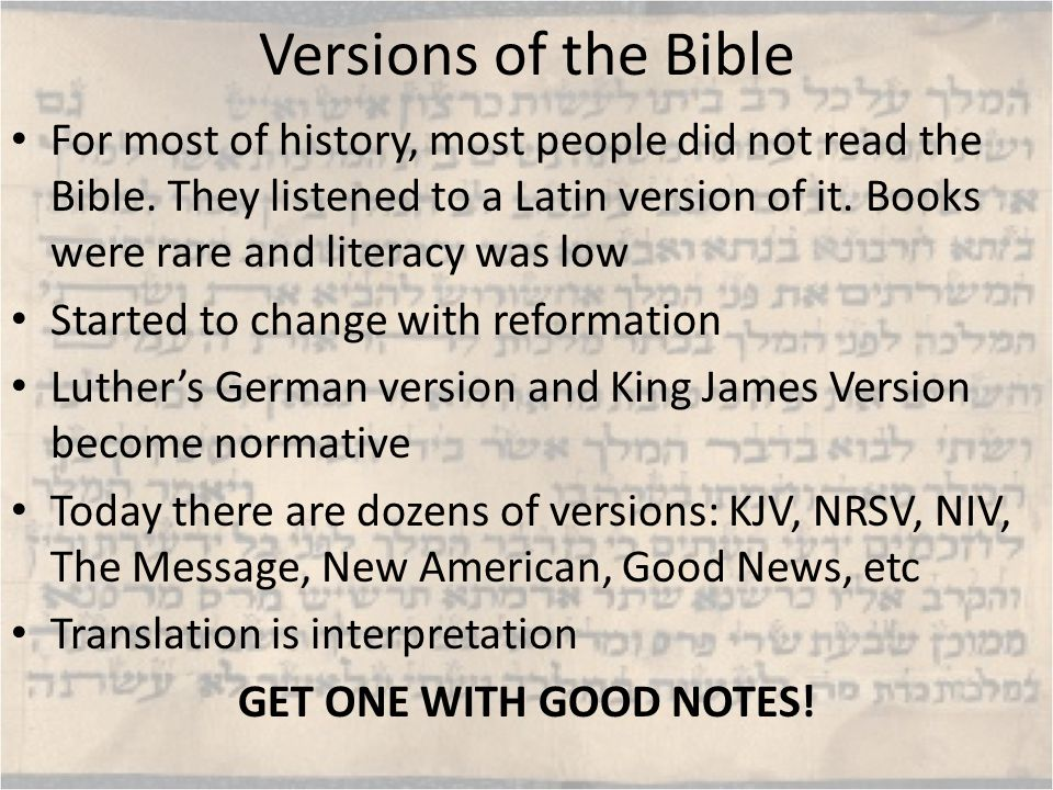 How has the Bible been read.