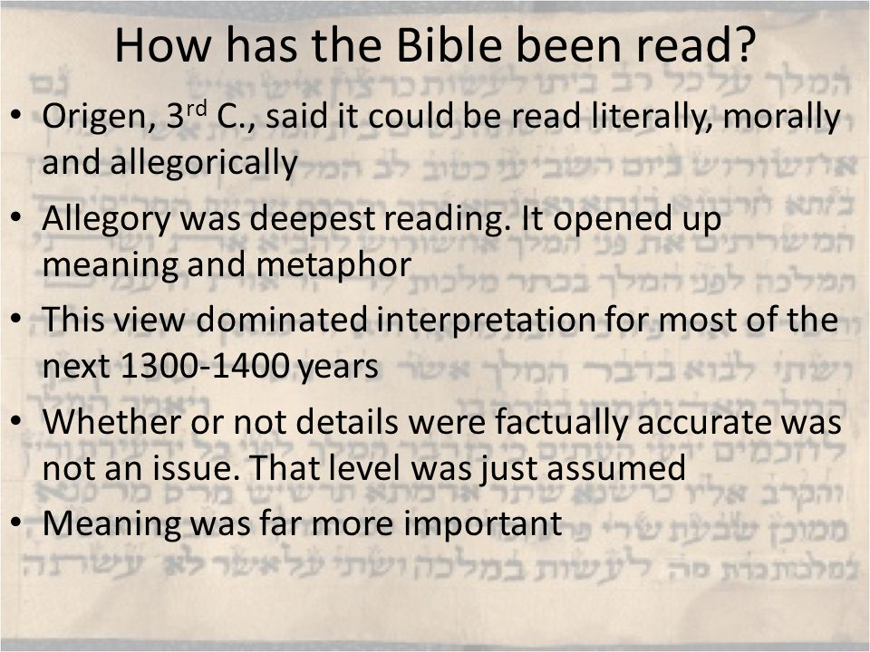 Notes on Old Testament Little sense of individual authorship in OT (or NT).