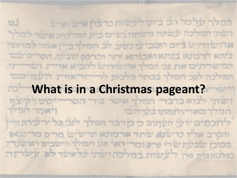 What is in a Christmas pageant?