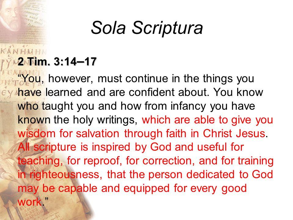 Sola Scriptura 2 Tim.