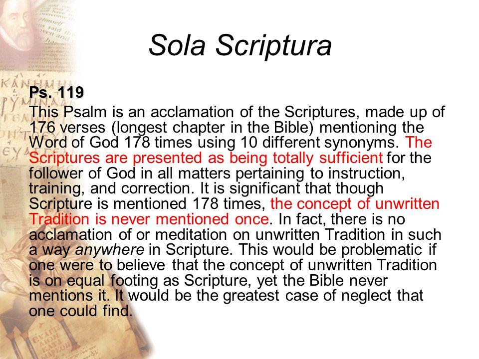 Sola Scriptura Ps.