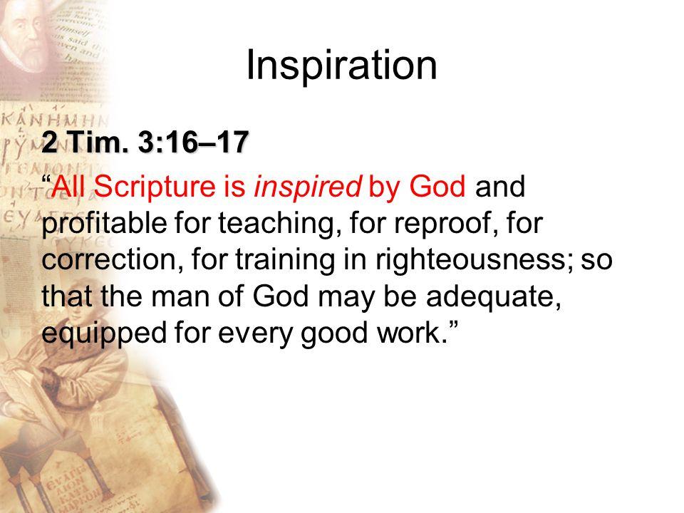 Inspiration 2 Tim.
