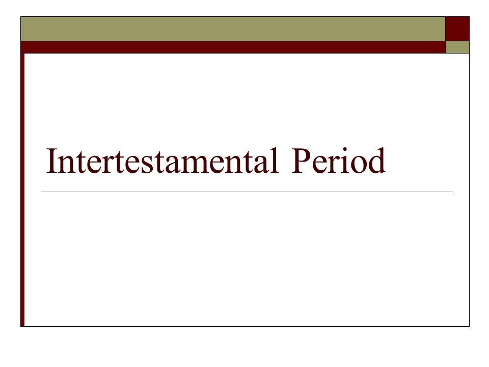 Intertestamental Period
