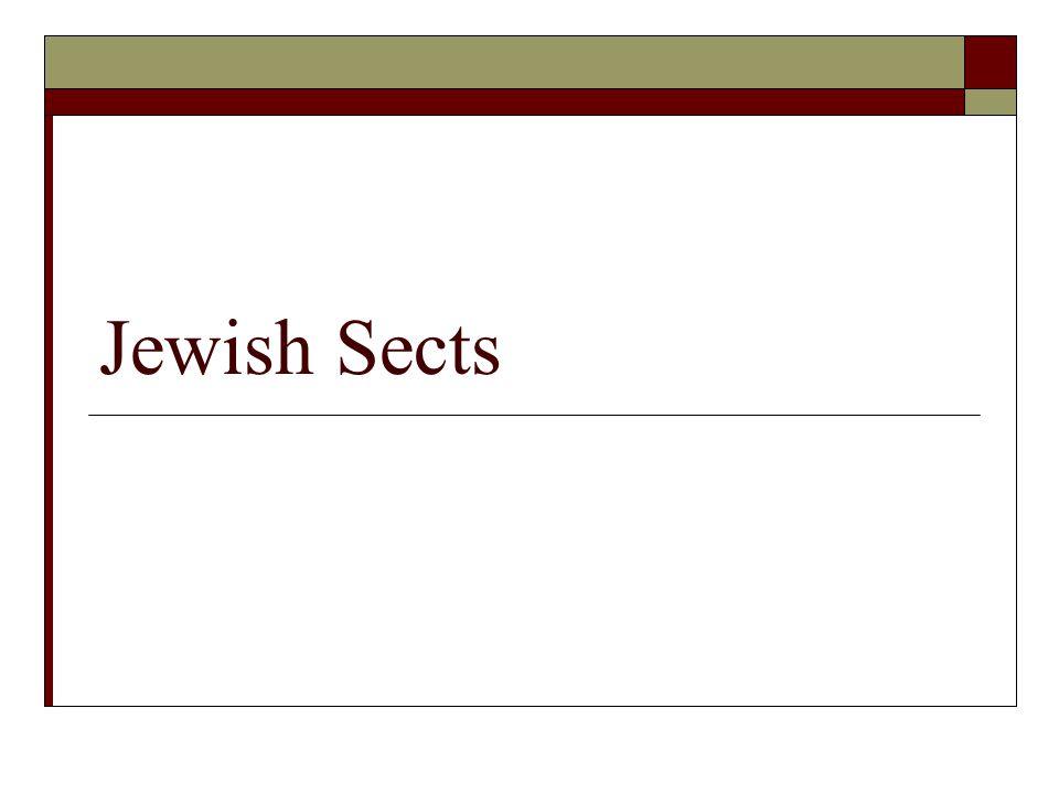 Jewish Sects