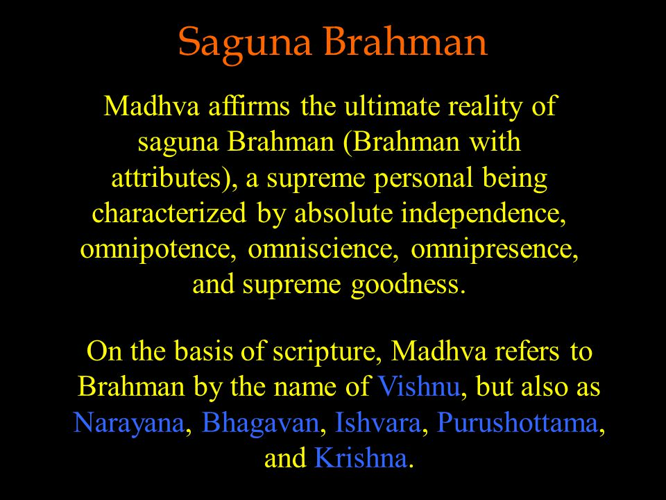 The Jiva and Brahman Each jiva is an imperfect reflection (pratibimba) of Brahman with respect to the essential divine qualities of truth, consciousness, bliss.