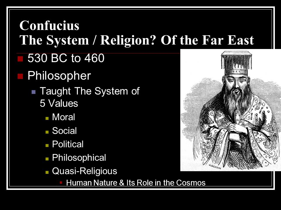 Confucius The System / Religion.