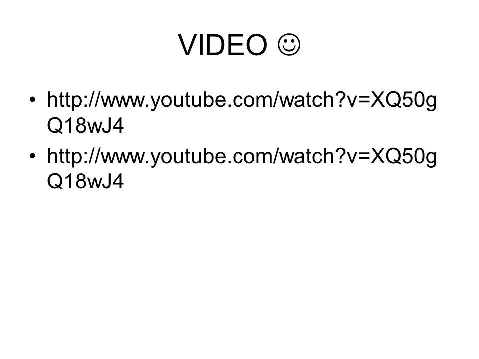 VIDEO http://www.youtube.com/watch?v=XQ50g Q18wJ4