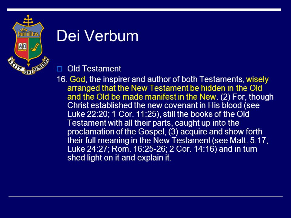 Dei Verbum  But, since Holy Scripture must be read and interpreted in the sacred spirit in which it was written, (9) no less serious attention must be given to the content and unity of the whole of Scripture if the meaning of the sacred texts is to be correctly worked out.