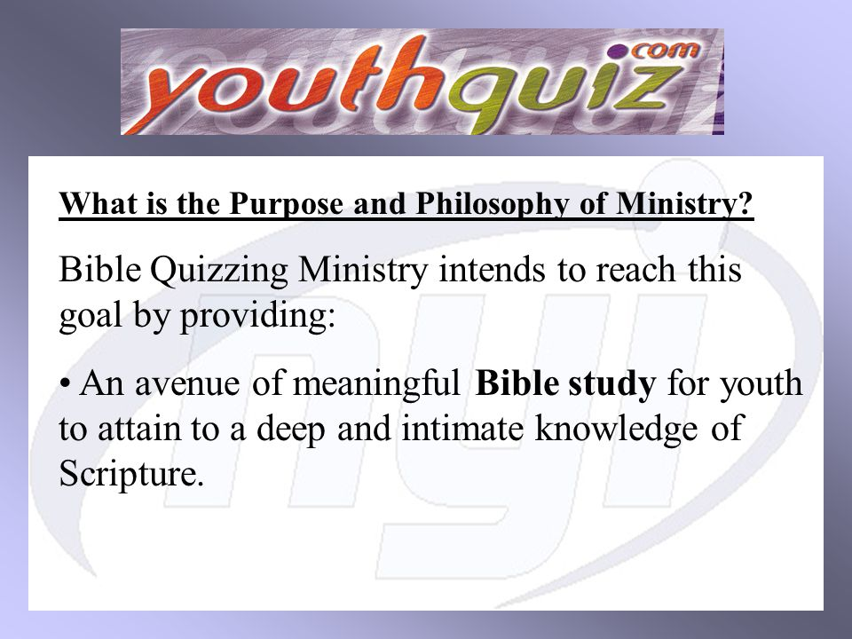 What is the Purpose and Philosophy of Ministry.