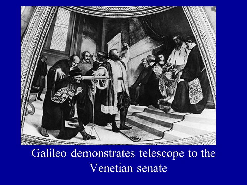 Galileo demonstrates telescope to the Venetian senate
