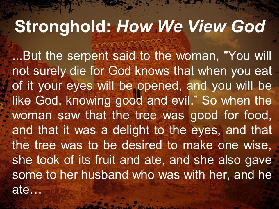 Stronghold: How We View God …Then the eyes of both were opened, and they knew that they were naked.