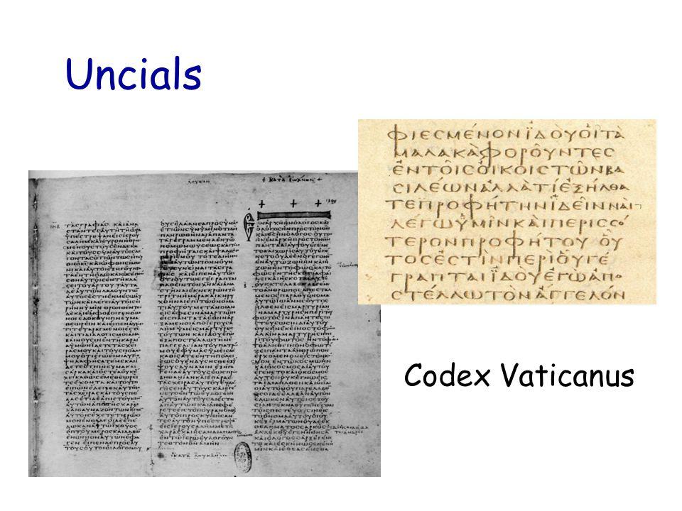 Uncials Codex Vaticanus