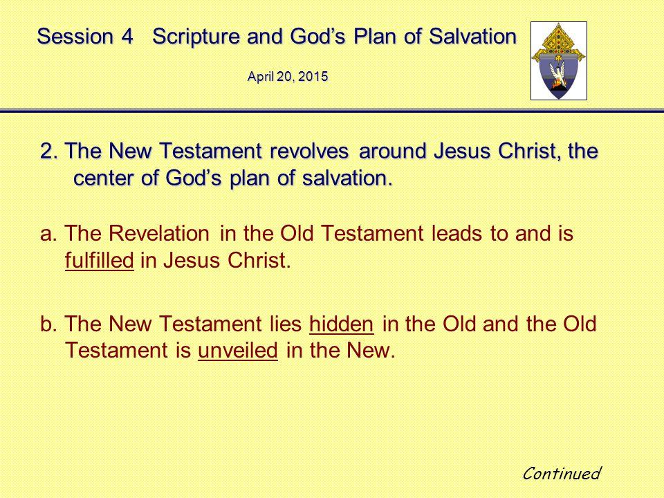 Session 4 Scripture and God's Plan of Salvation April 20, 2015April 20, 2015April 20, 2015 2.