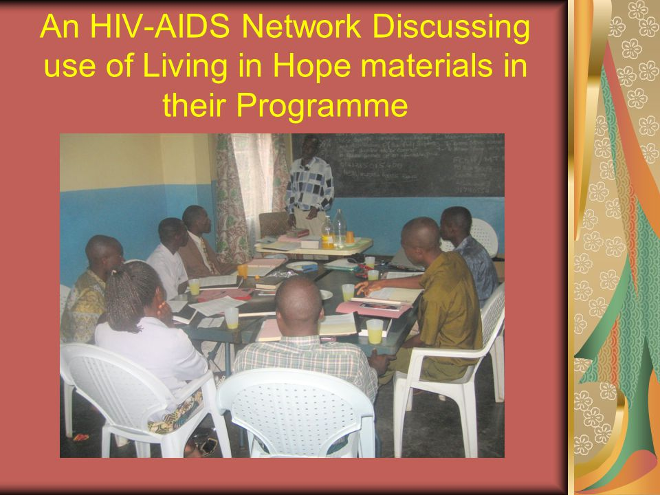 Institutions with HIV-AIDS Programmes benefited and equipped their resource centers