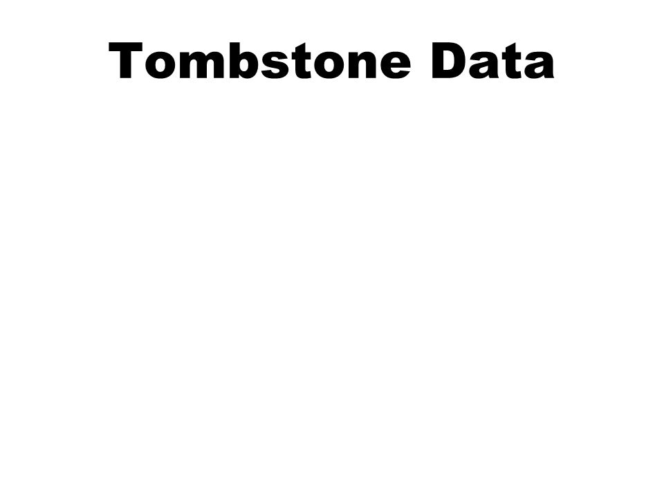 Tombstone Data