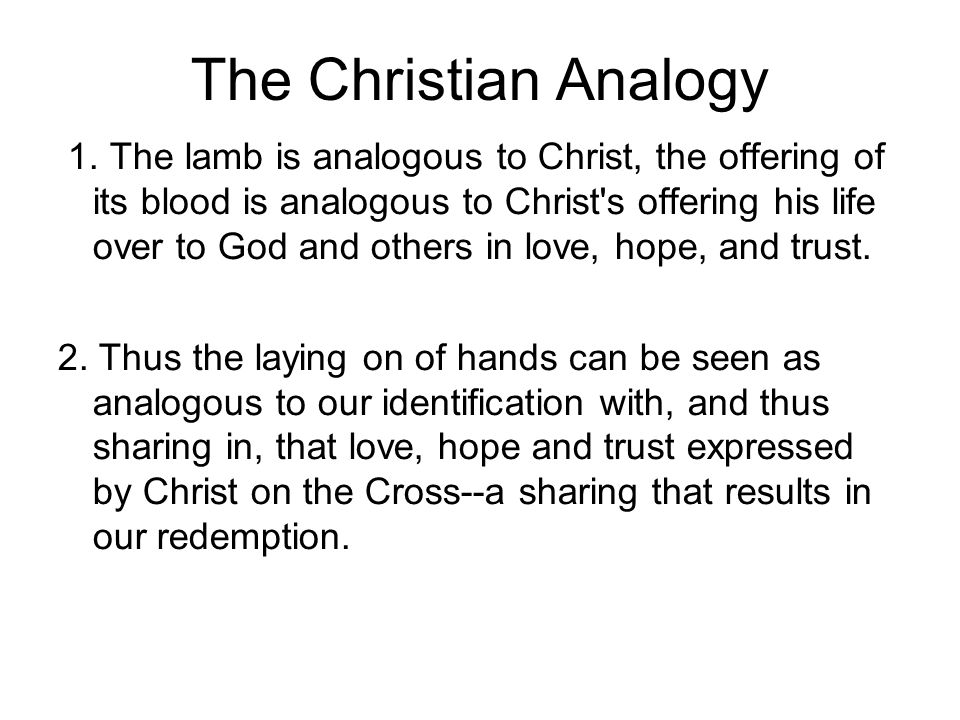 The Christian Analogy 1.