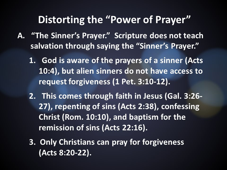 Distorting the Power of Prayer A.