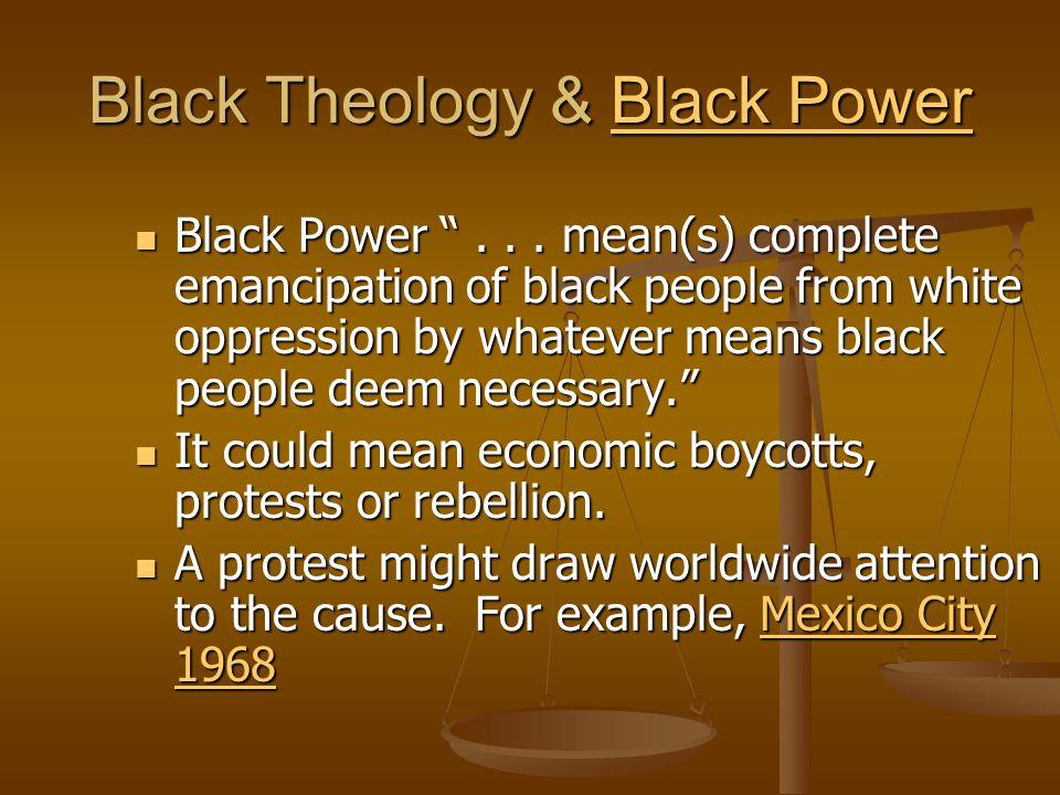 Black Theology God's concern for God's people