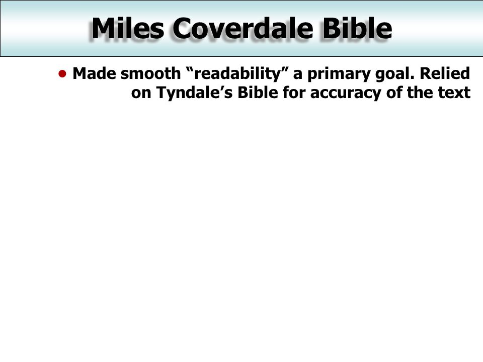 Made smooth readability a primary goal.