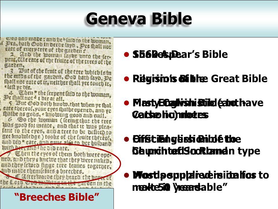 Geneva Bible 1560 A.D.
