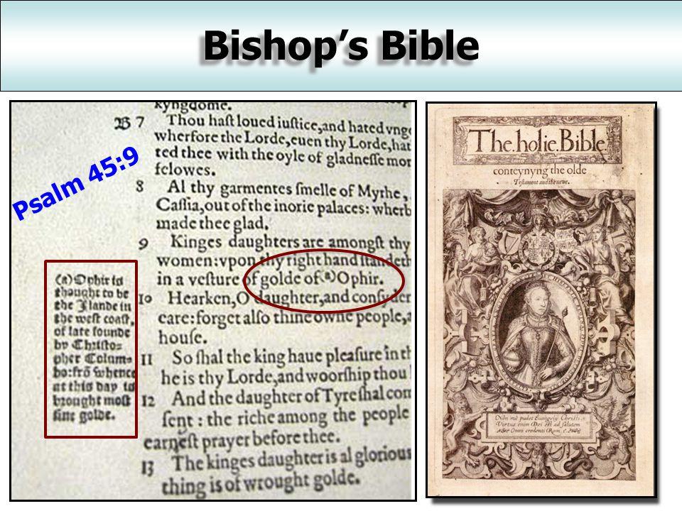 Bishop's Bible 1568 A.D.