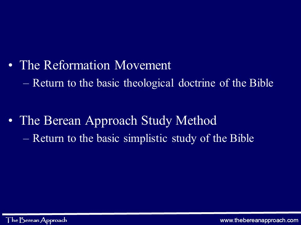 www.thebereanapproach.com The Berean Approach Academia Promise of the Holy Spirit