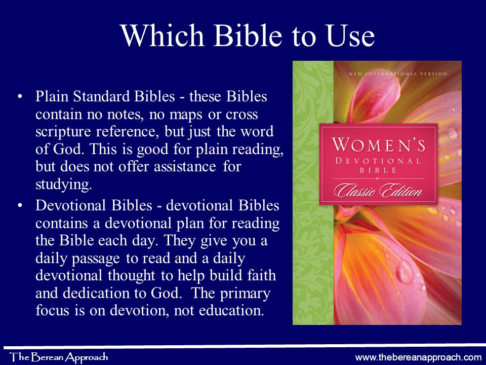 www.thebereanapproach.com The Berean Approach The Reformation Movement –R–Return to the basic theological doctrine of the Bible The Berean Approach Study Method –R–Return to the basic simplistic study of the Bible