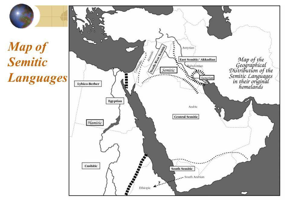 Map of Semitic Languages