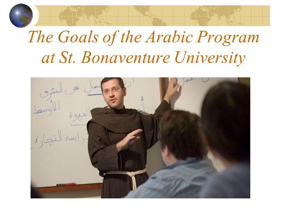 The Goals of the Arabic Program at St. Bonaventure University