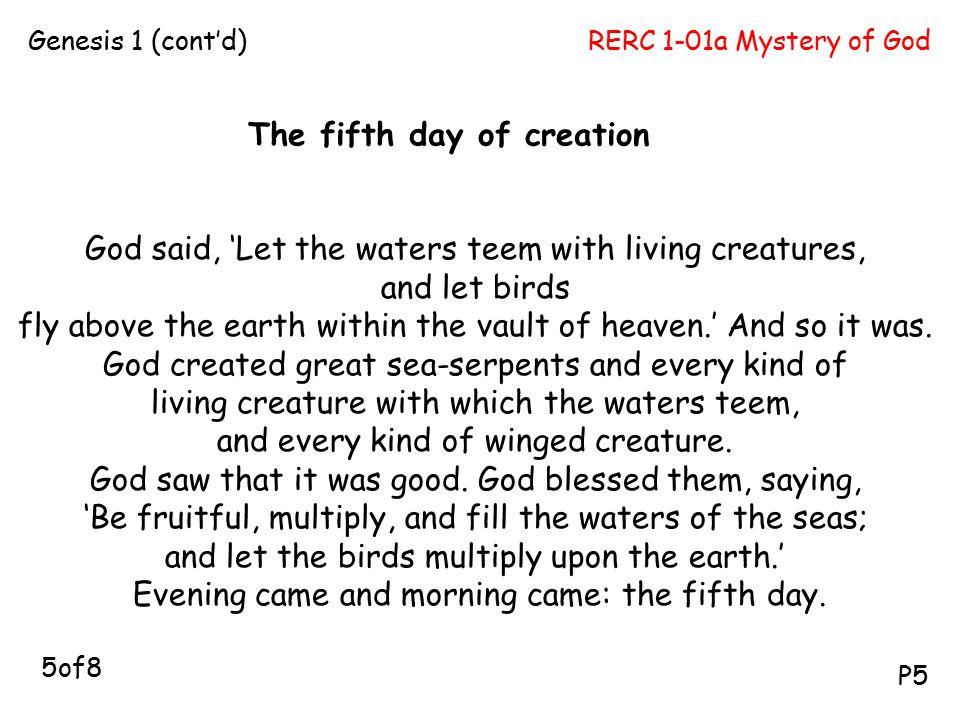 RERC 1-01a Mystery of GodGenesis 1 (cont'd) P5.
