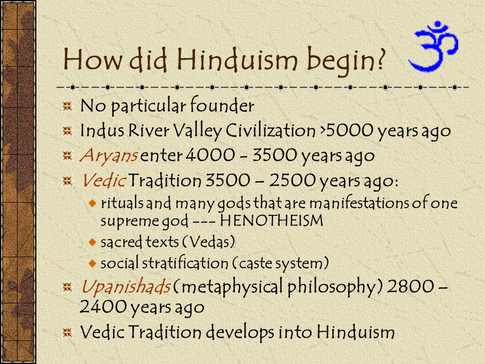 How did Hinduism begin.